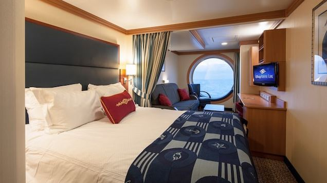 Disney Dream & Fantasy Deluxe Family Oceanview Stateroom 8B-8D
